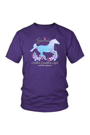 Aquarius Horse Unisex Shirt-T-shirt-teelaunch-District Unisex Shirt-Purple-S-Three Wild Horses