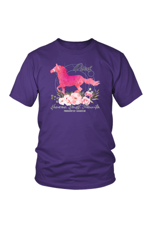 Pisces Horse Unisex Shirt-T-shirt-teelaunch-District Unisex Shirt-Purple-S-Three Wild Horses