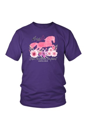 Aries Horse Unisex Shirt-T-shirt-teelaunch-District Unisex Shirt-Purple-S-Three Wild Horses