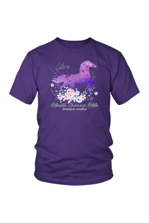 Libra Horse Unisex Shirt-T-shirt-teelaunch-District Unisex Shirt-Purple-S-Three Wild Horses