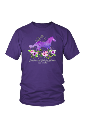 Leo Horse Unisex Shirt-T-shirt-teelaunch-District Unisex Shirt-Purple-S-Three Wild Horses