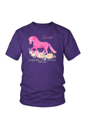 Cancer Horse Unisex Shirt-T-shirt-teelaunch-District Unisex Shirt-Purple-S-Three Wild Horses