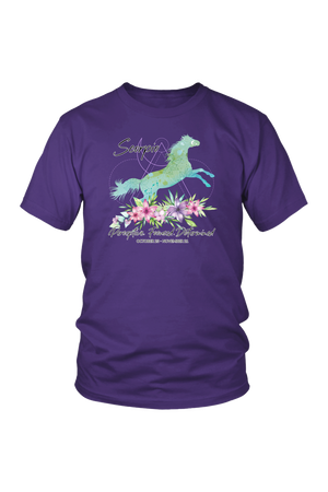 Scorpio Horse Unisex Short-T-shirt-teelaunch-District Unisex Shirt-Purple-S-Three Wild Horses
