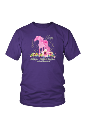 Virgo Horse Unisex Shirt-T-shirt-teelaunch-District Unisex Shirt-Purple-S-Three Wild Horses