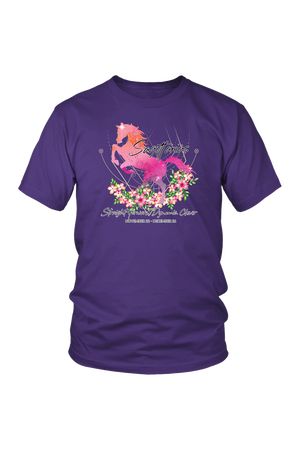 Sagittarius Horse Unisex Shirt-T-shirt-teelaunch-District Unisex Shirt-Purple-S-Three Wild Horses