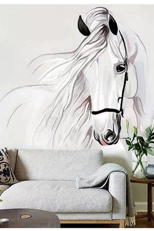 Lavender Horse Sketch Wall Art