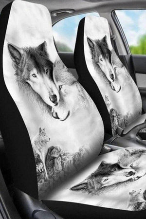 Lavender Wolf Pattern Car Seat Covers-Set of 2 Car Seat Covers