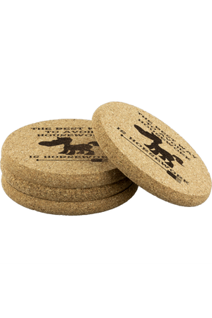 Round Cork Coasters - Horsework-Coasters-teelaunch-4pcs Set-Three Wild Horses