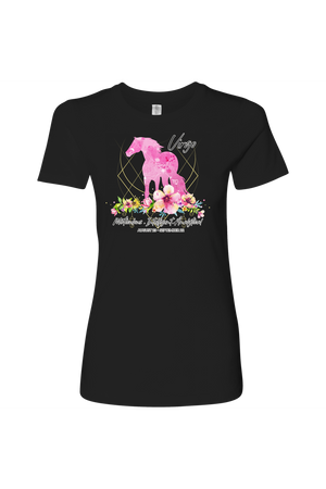 Virgo Horse Shirt for Women-T-shirt-teelaunch-Next Level Womens Shirt-Black-S-Three Wild Horses