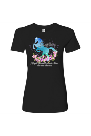 Sagittarius Horse Shirt for Women-T-shirt-teelaunch-Next Level Womens Shirt-Black-S-Three Wild Horses
