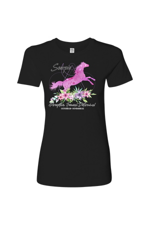 Scorpio Horse Shirt for Women-T-shirt-teelaunch-Next Level Womens Shirt-Black-S-Three Wild Horses
