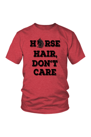 Maroon Horse Hair Don't Care T-Shirt