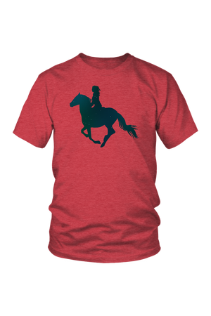 Maroon Horse Riding T-Shirt