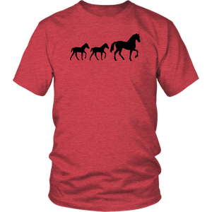 Maroon Two Foal - T-Shirt