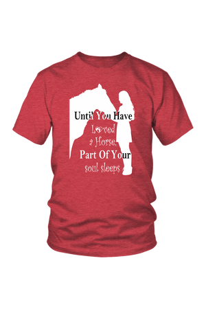 Maroon Until You've Loved a Horse Part of Your Soul Sleeps T-Shirt