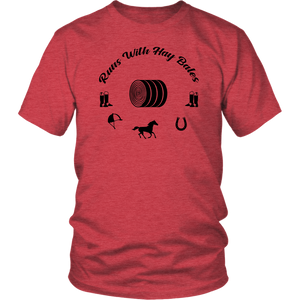 Maroon Runs With Hay Bales- T-Shirt