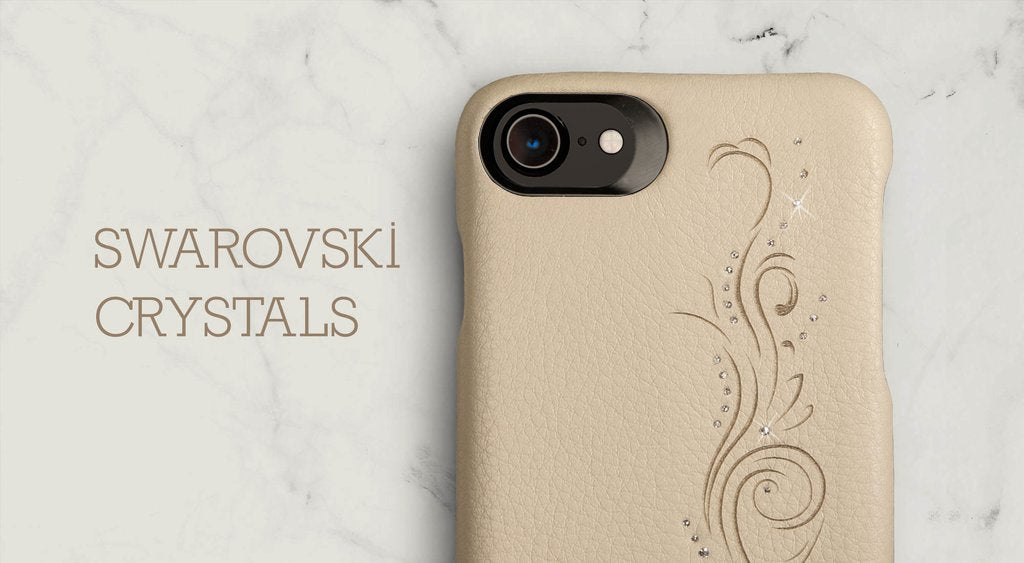 Swarovski Crystals iPhone 8 leather case