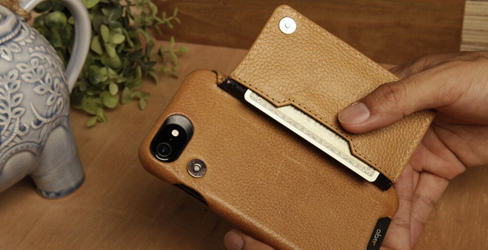 PREMIUM IPHONE 7 WALLET LEATHER CASE