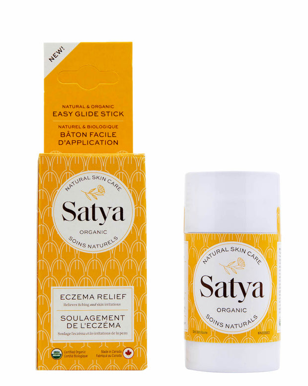 Great alternative to steroid cream. Relieving skin inflammation, itching and irritation. Satya helps retain moisture, reduce flaking, cracking, roughness and restore suppleness to dry, damaged skin. Ideal for: eczema, dermatitis, psoriasis, burns, rash, chafing, chapping, insect bites and wound healing. Natural, cruelty-free with USDA Certified organic ingredients. Organic Eczema Relief 50 ml