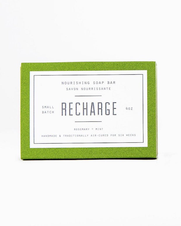 Woodlot Recharge All Natural Nourishing Soap Bar. Made in Canada
