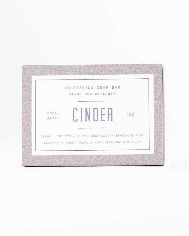 Woodlot Cinder-All Natural Nourishing Soap Bar. Made in Canada