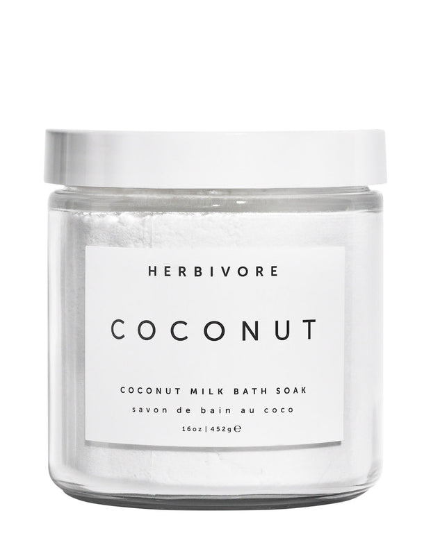 Deeply hydrating organic coconut milk is the base of this luxurious, relaxing and indulgent bath soak. Leaves skin feeling moisturized and silky-soft. Suitable for all skin types. Natural, vegan, cruelty-free with organically sourced ingredients.
