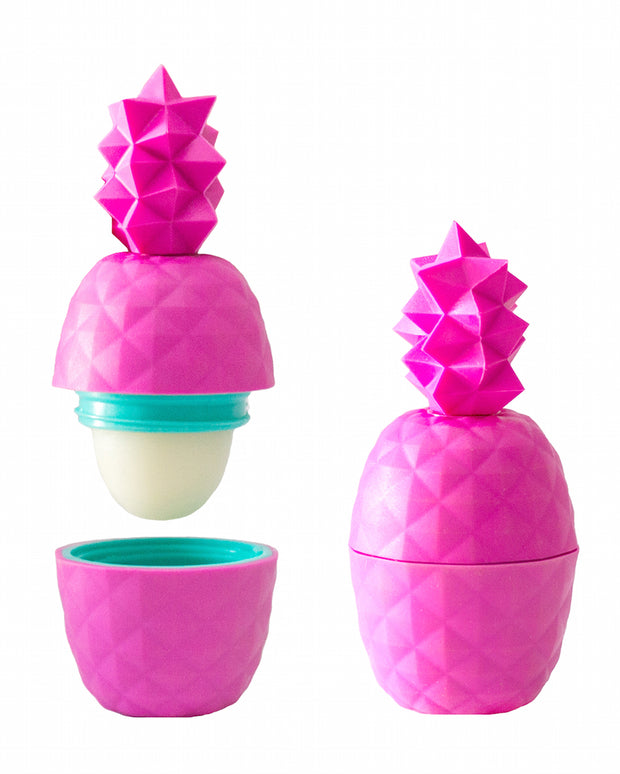 Pink Rebel Rose Geometric Pineapple Lip Balm-Mango/Strawberry