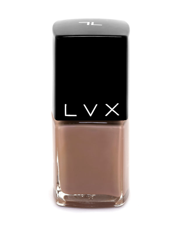 Ultra rich and creamy, high shine, smooth finish and is a superior long wear formula. Manicure quality in 1-2 coats. 10 toxin free formula. Use LVX Gel Top Coat for an ultra high shine finish. Luxury cruelty-free and vegan nail polish inspired by high fashion. Lasts up to two weeks