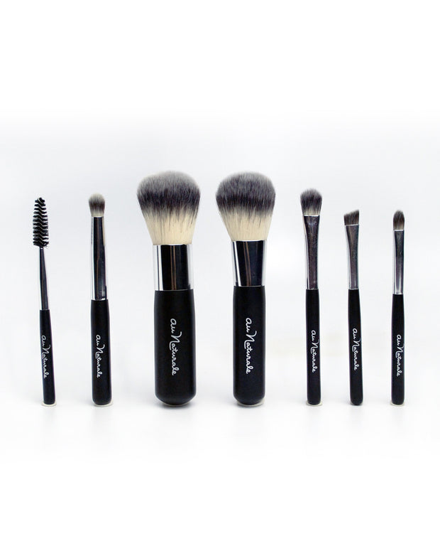 This Travel size Best Makeup Brush Set is All in one. This Makeup Brush Set includes Foundation Brush -  Eyeshadow Brush - Blush Brush - Crease Brush - Angle-Liner Brush - Lip Brush - Mascara Spoolie  and carrying case.  Shipping to Toronto and Greater Toronto Area, Canada and all over the world. Free Shipping on Orders over $75 within Canada.