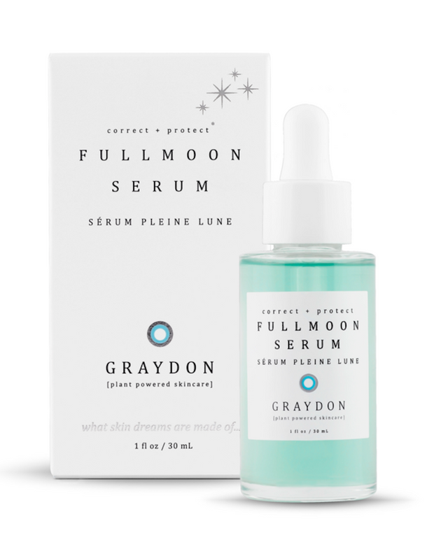 Vegan serum soothes, smooths and protects for a radiant complexion. Perfect for every skin type. A light botanical serum will help shield your skin from everyday pollutants and calms inflammation. Formulated with botanical collagen, vitamin c, hyaluronic acid, oligopeptides and retinol, anti-inflammatory blue tansy, an anti-pollution complex, and infused with Graydon's favorite gemstone malachite to combat signs of aging. Natural, vegan, cruelty-free with organically sourced ingredients.
