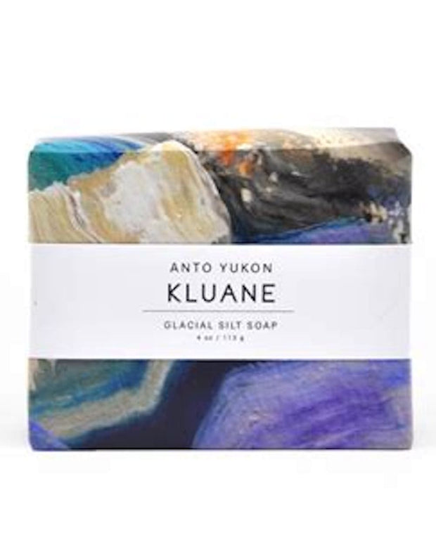 Handmade and cured in our northern Canadian studio located in Yukon Territory. Featuring original Canadian artwork. 100% recyclable packaging. Coconut base, free of sulphates and parabens, all natural ingredients, colourants, and essential oils. Kluane is scented with lavender and mint. Vegan and cruelty free