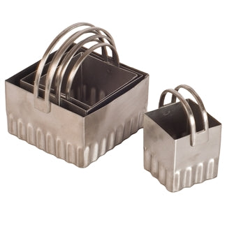 Biscuit Cutters, square-rippled