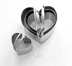Biscuit Cutters, heart shaped