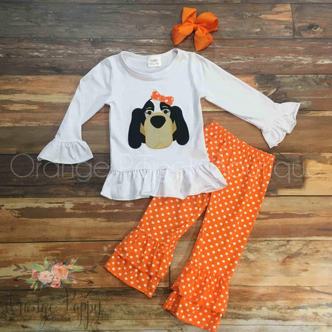 tennessee vols smokey outfit for girls football