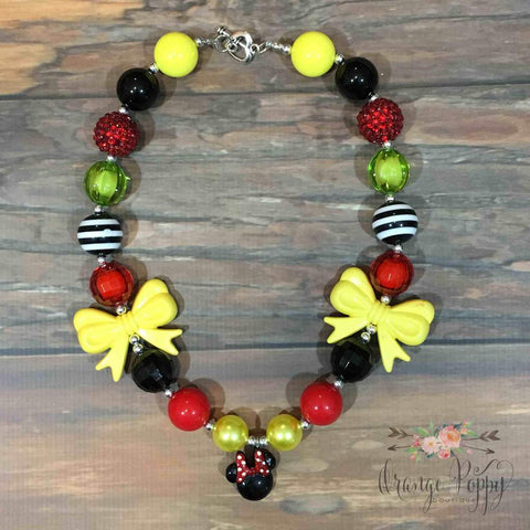 minnie mouse girls necklace