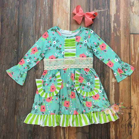 girls neon island breeze summer dress