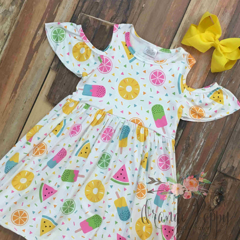 fruit and popsicle dress