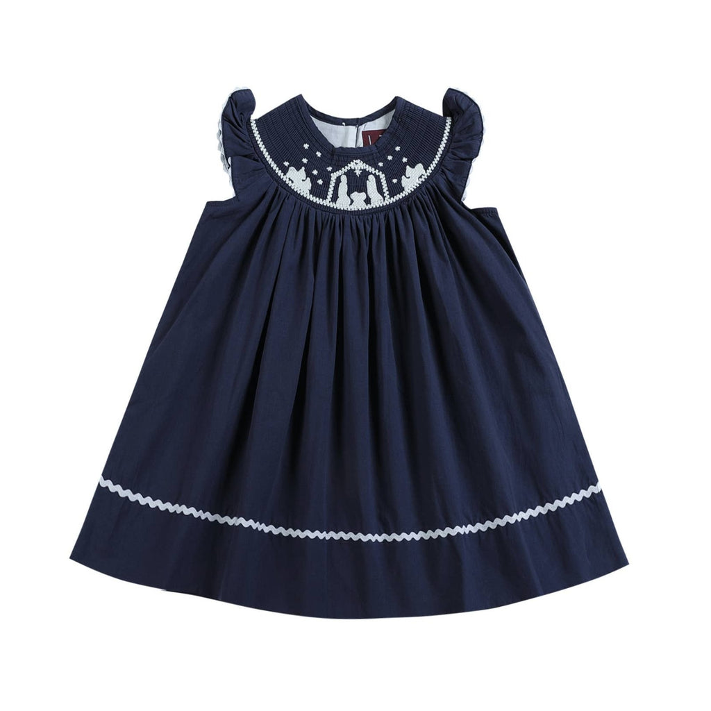 Silent Night Smocked Dress