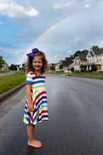 Load image into Gallery viewer, Rainbow Twirl Dress