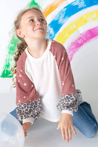 KIDS STAR PRINT LONG SLEEVES TOP