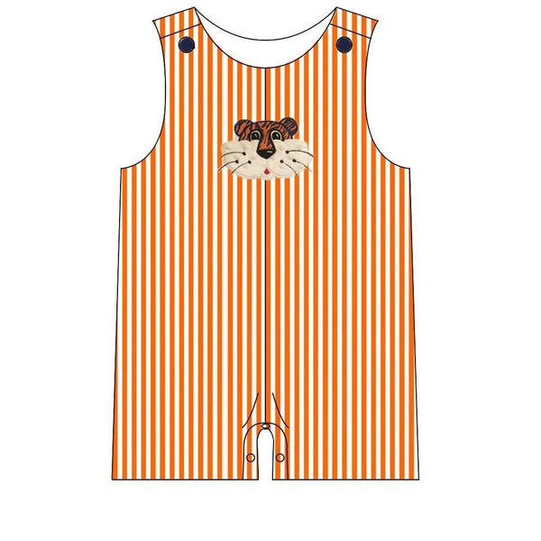 Auburn Tigers Baby Boy Romper | Orange Poppy Children's Boutique