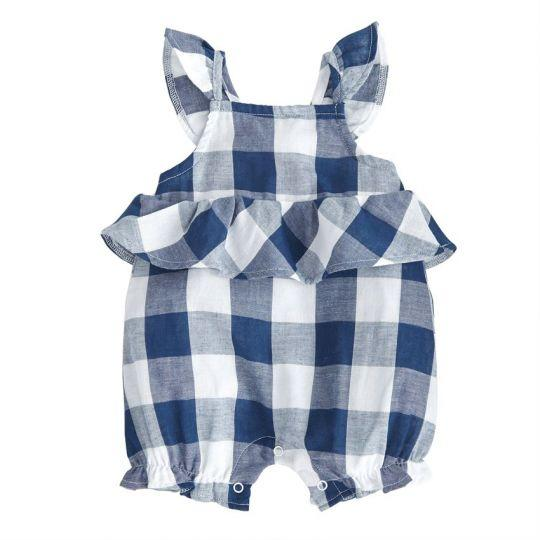 Navy Gingham Bubble