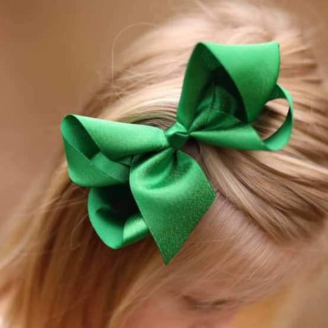 Green Shimmer Bow - Orange Poppy Boutique