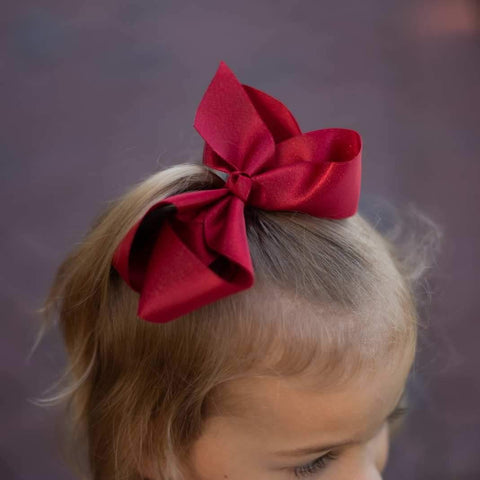 Red Shimmer Bow - Orange Poppy Boutique