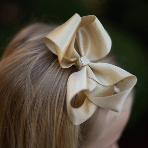 Gold Shimmer Bow - Orange Poppy Boutique