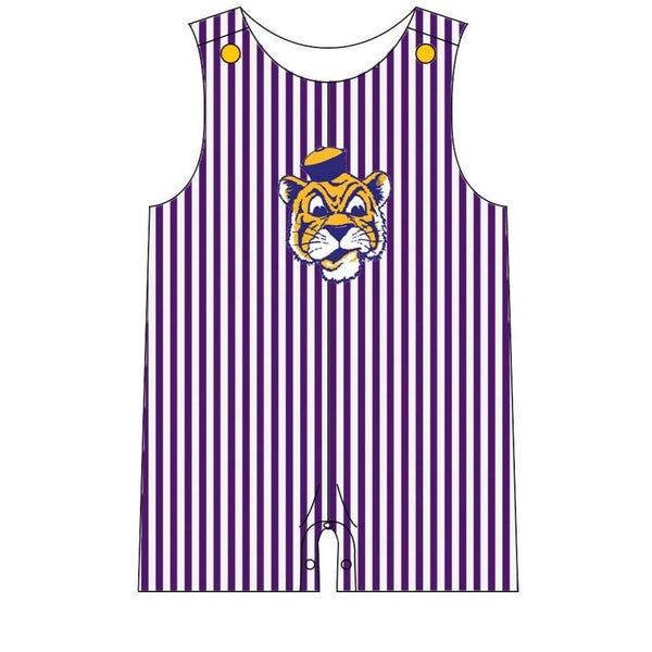 LSU Tigers Baby Boy  Romper | Orange Poppy Children's Boutique