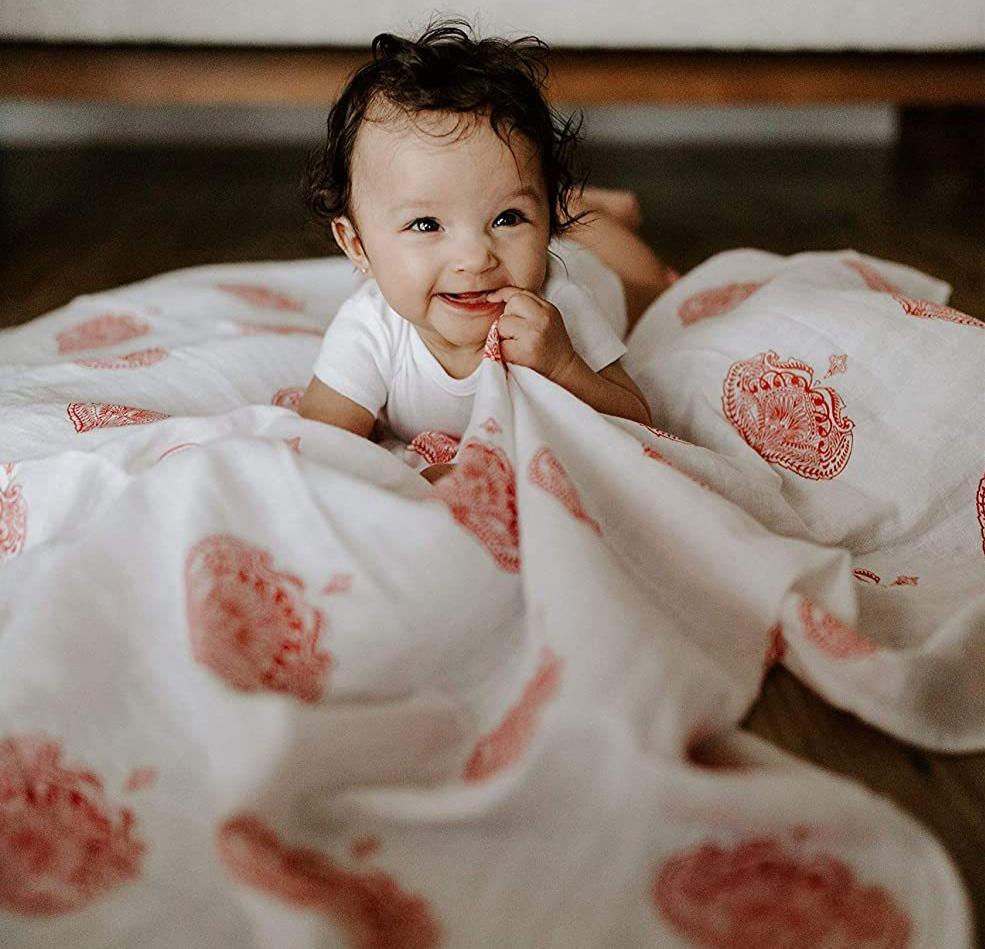 aden+anais paisley drop muslin swaddle