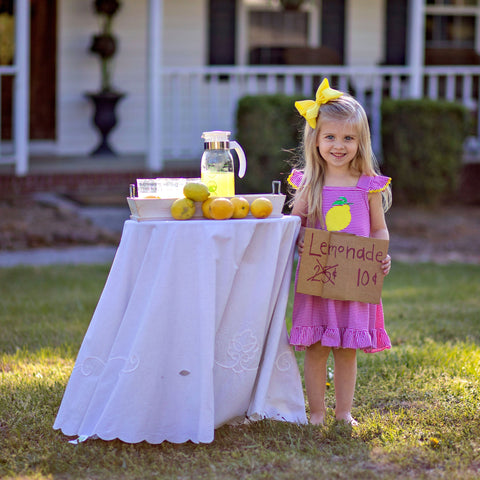 girls boutique lemon dress