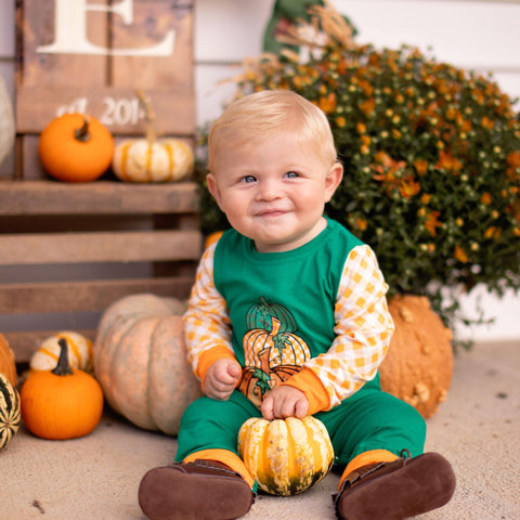 baby boy matching sibling fall outfit romper