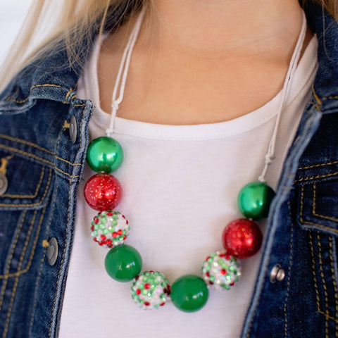 Christmas Necklace - White